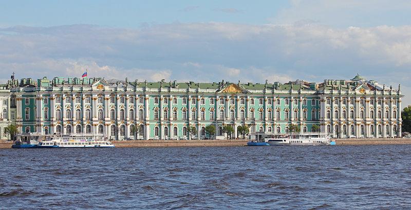 Ermitage vu de la Neva, Saint-Pétersbourg