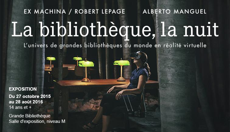 La bibliothèque, la nuit (Robert Lepage, Alberto Manguel, BANQ)