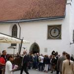 Vieille ville de Tallinn. Église du Saint-Esprit, achevée en 1380. © Julie Marcil